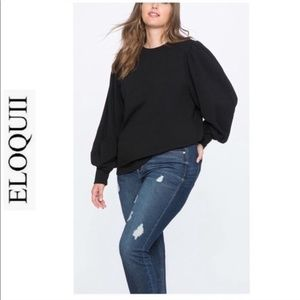new ELOQUII puff sleeve blouse shirt top 22/24